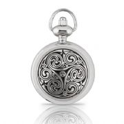 Triple Swirl Womens Pocket Watch